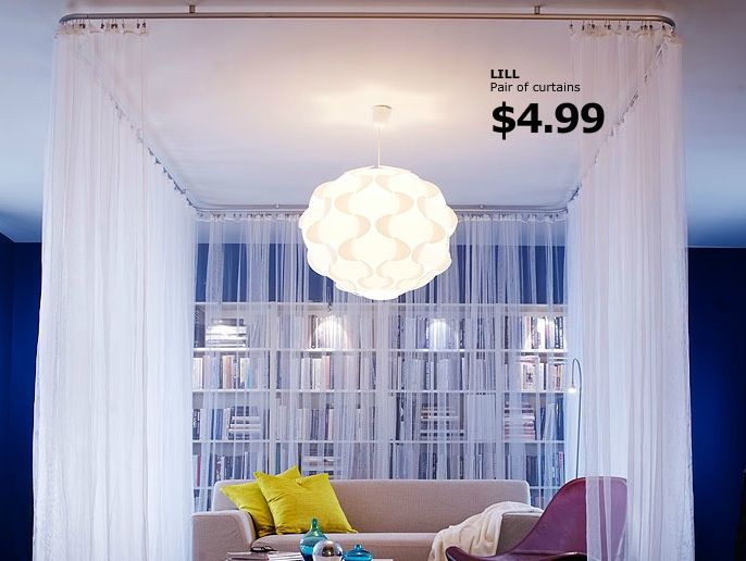 Ceiling Curtain Track Bay Window IKEA Room Divider Doors
