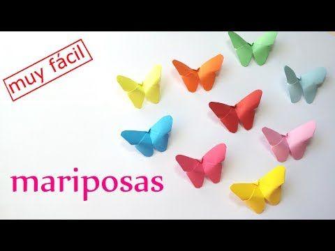 ▶ Manualidades: MARIPOSAS de PAPEL (fácil y rápido) - DIY Innova Manualidades - YouTube