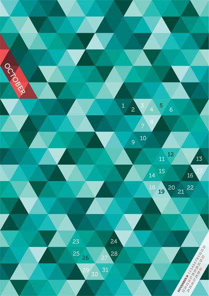 36 - dari 45 Contoh Desain Kalender 2014 Beautiful Unique Calender Designs