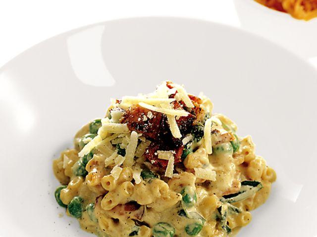 Makarotto med bacon och ärter (kock recept.nu)