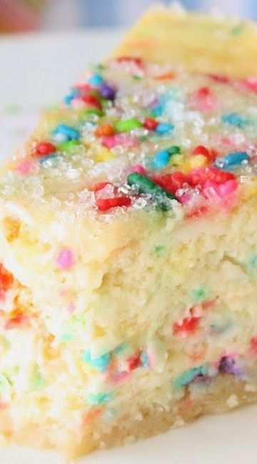 Sugar Cookie Cheesecake ~ It's simple to make and makes any day a celebration!