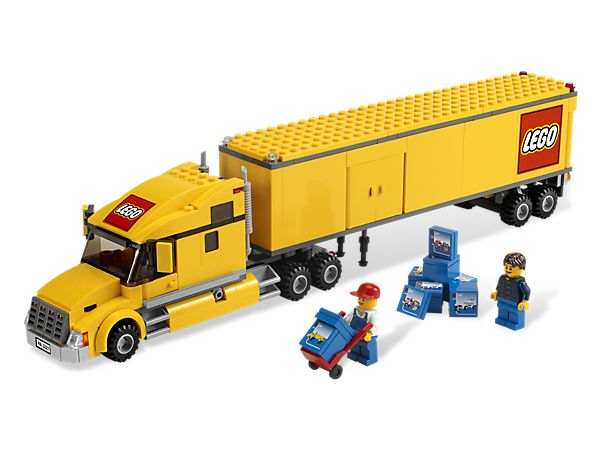 Load the LEGO® City Truck and make a delivery to the airport!