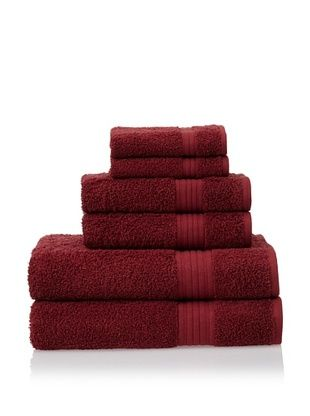 55% OFF Savannah by Chortex 6 Piece Towel Set, Claret