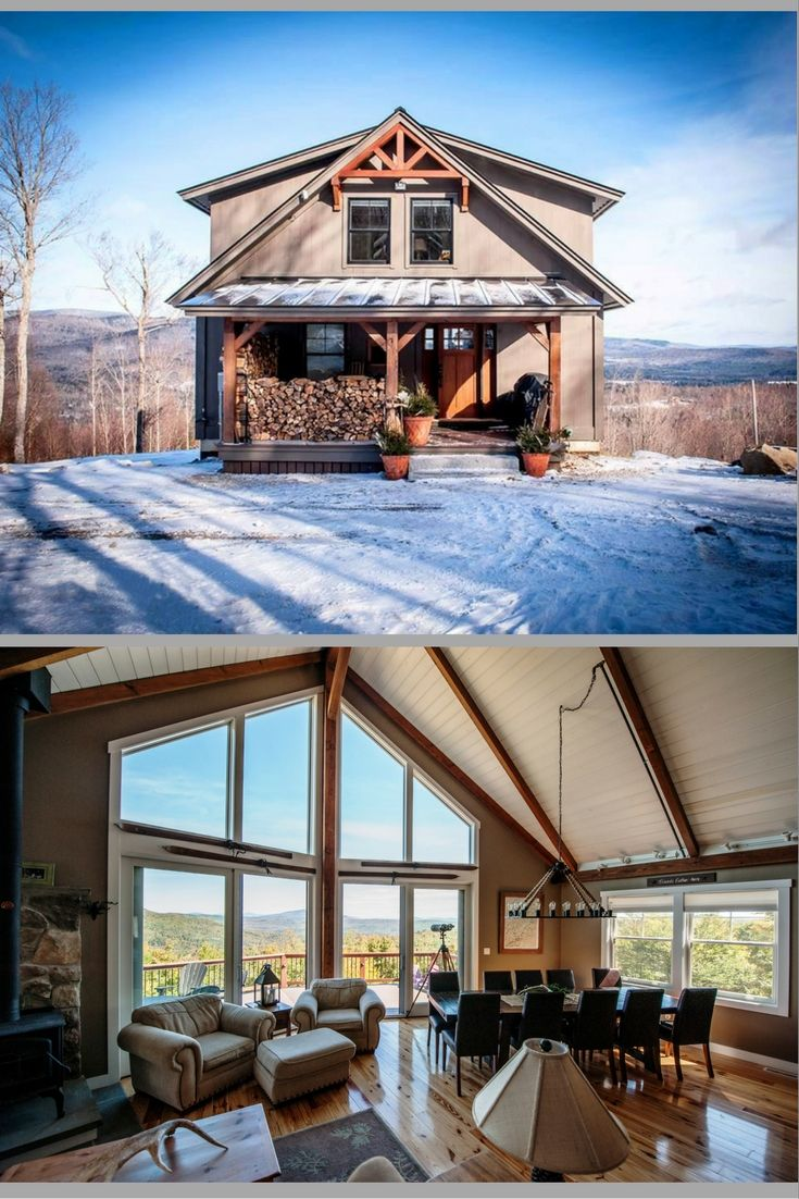 1000 ideas about small lake houses on pinterest lake for Small post and beam homes