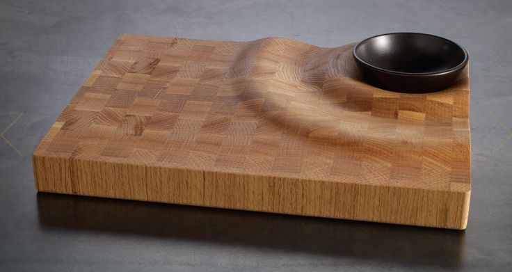A wave wandering through massive wood - #furniture #design #accessoires cutting board