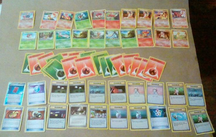 pokemon deck - green/red includes charmander and Charmeleon in the deck