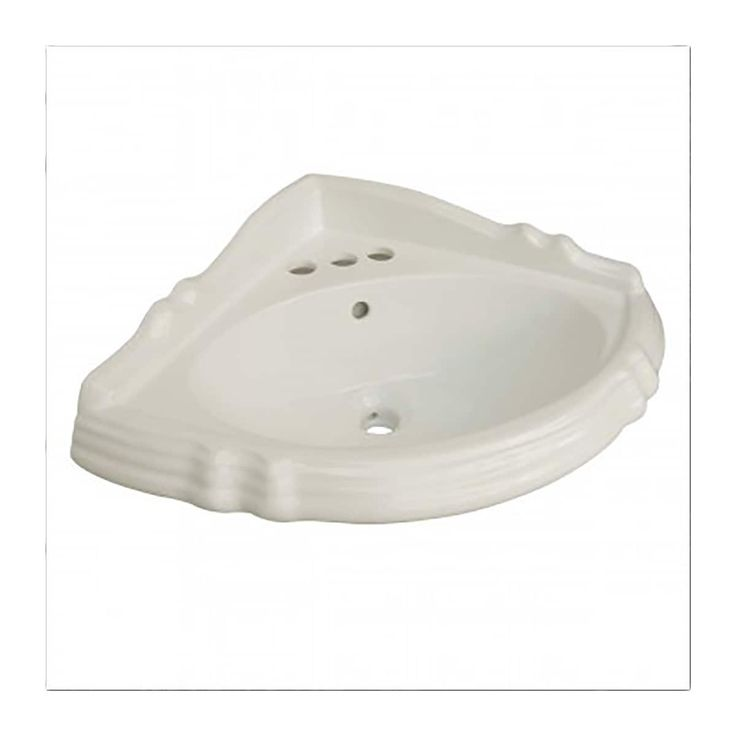 Bathroom Sheffield Corner Basin Bone China for Pedestal 10773|Renovator's Supply (Renovator's Supply), Tan