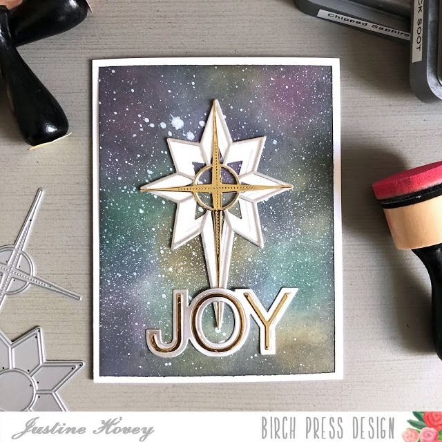 Justine S Cardmaking Distress Oxide Galaxy Background Galaxy Background Nativity Star Christmas Card Design