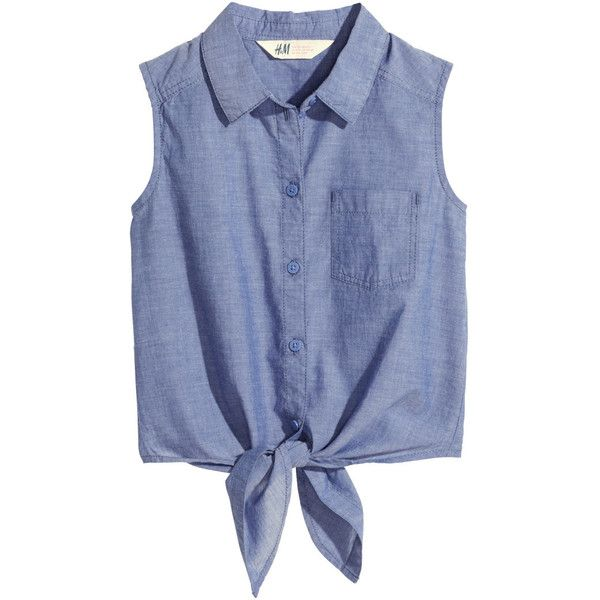 Blouse with Tie $9.95 ($9.95) ❤ liked on Polyvore