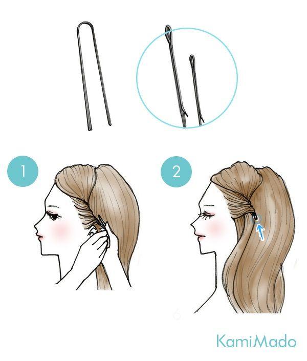 penteados básicos franja presa