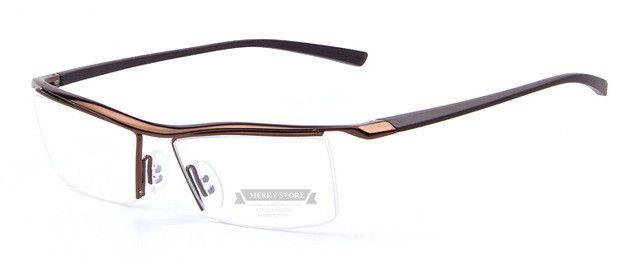 MERRY'S Men Optical Frames Eyeglasses Frames Rack Commercial Glasses Fashion Eyeglasses Frame Myopia Titanium Frame TR90 Legs