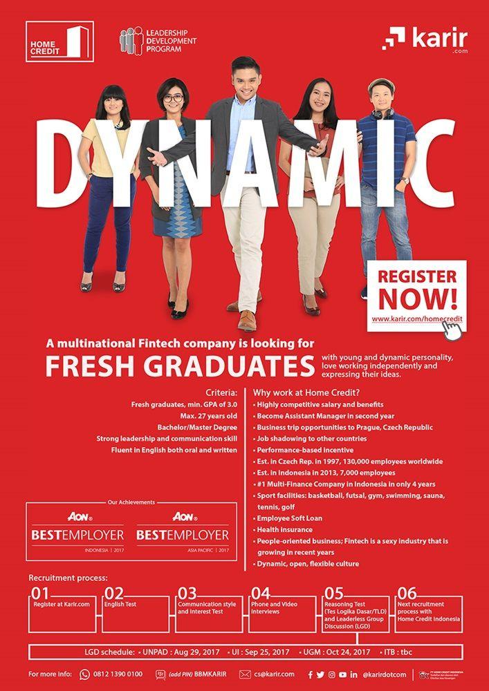 IKUTI!  Home Credit Leadership Development Program dari Home Credit Indonesia >> http://bit.ly/2ezR6an   DEADLINE: 18 September 2017 #itbcc #karirITB #ITBcareer