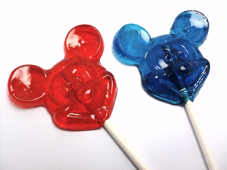 Mickey Mouse lollipops - choose your own colors and flavors