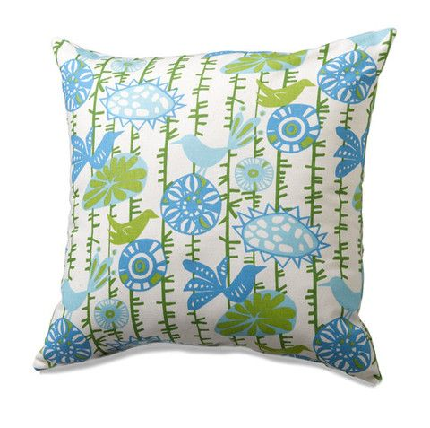 This is the perfect addition to just about any of our light blue bedding sets! #classof2014 get your Menagerie Accent Pillow in Blue by American Made Dorm & Home now!!
