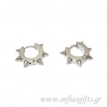 Ανδρικό σκουλαρίκι καρφιά ασημί #ανδρικά #σκουλαρικια #andrika #skoularikia #kosmhmata #κοσμηματα