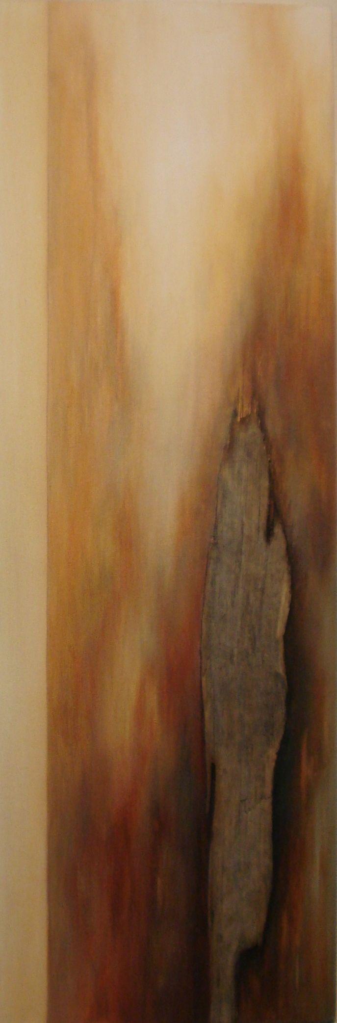 Met verweerd hout. Verstilling  door Truus Martens