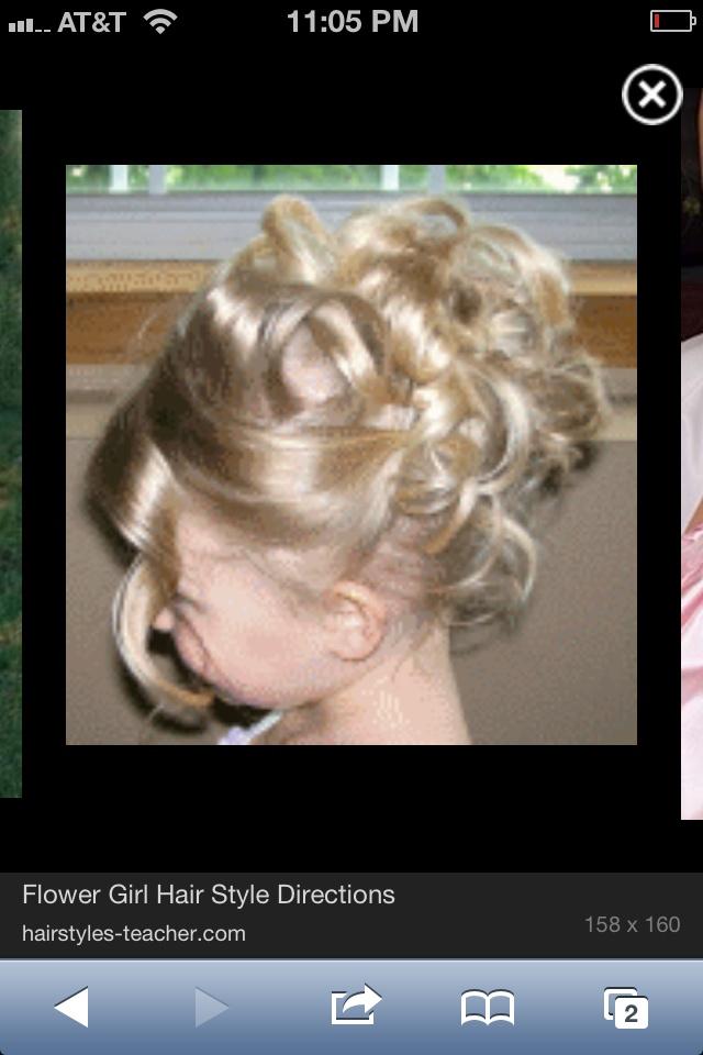 Audrey's flower girl hair