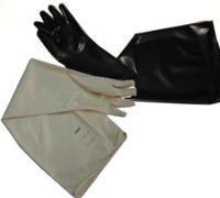 Drybox/Isolator Gloves by Renco Gloves available in Hypalon(csm), Butyl, Latex, Neoprene, Nitrile, Butadyl, or Polyurethane/Viton material