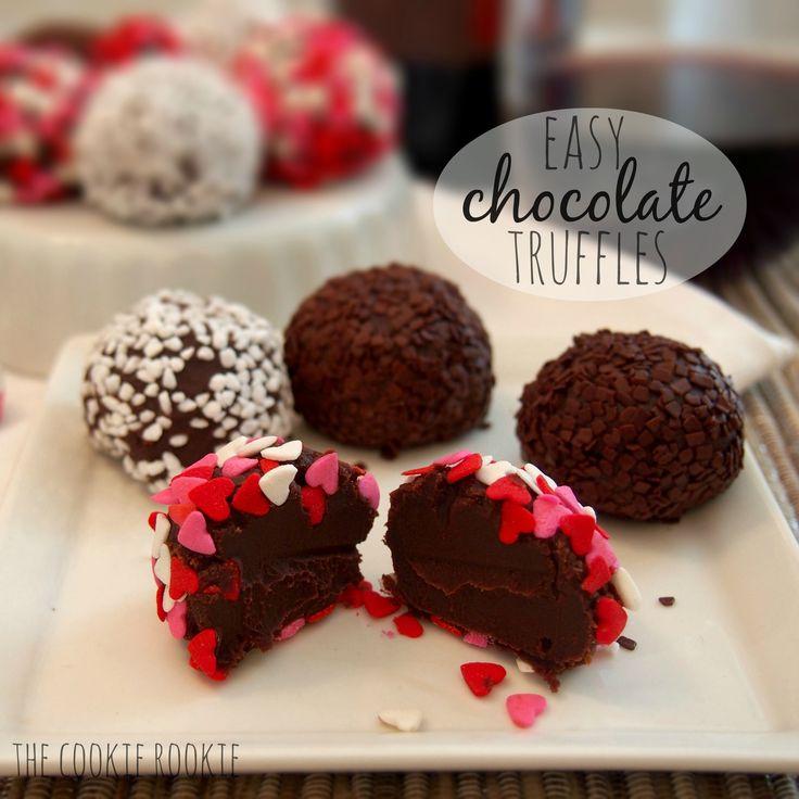 Easy chocolate truffles | Recipe