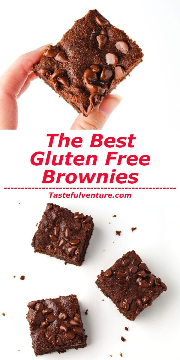 These are SERIOUSLY The Best Gluten Free Brownies, so moist and chocolatey…