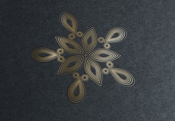 Golden Snowflakes on Behance
