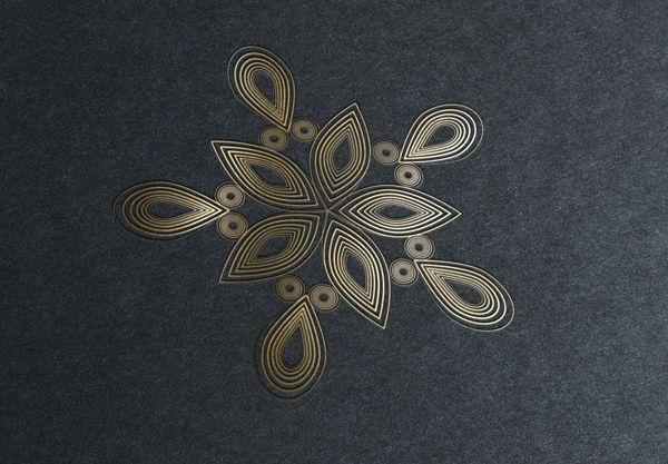 Golden Snowflakes on Behance