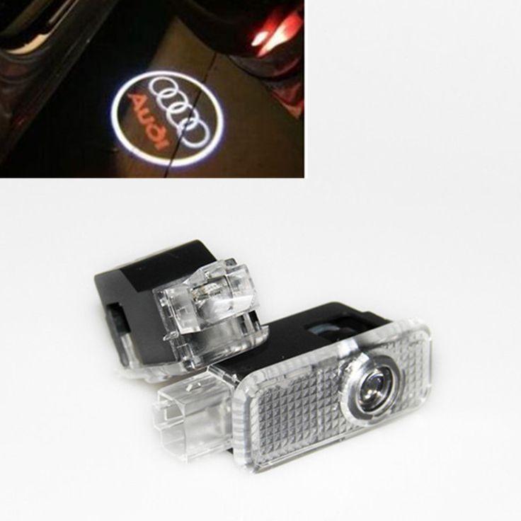 СВЕТОДИОДНЫЕ Двери Автомобиля Добро Пожаловать Лазерного Света Двери Автомобиля Тень светодиодный Проектор Логотип Для AUDI A3 A4 B6 B7 A5 A6 A7 A8 Q5 Q7 R8 TT C5 C7 S линии