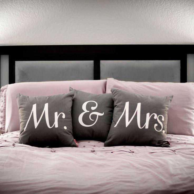 Mrs Grey Throw Pillow