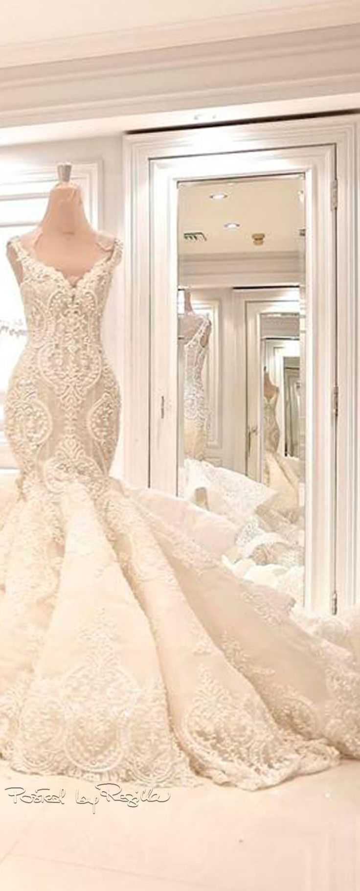Lace mermaid style wedding dress