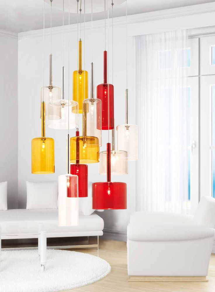 Add a touch of colour to your home with the elegant Torino Pendant by #MercatorLighting #LightingInspiration #HomeDecor