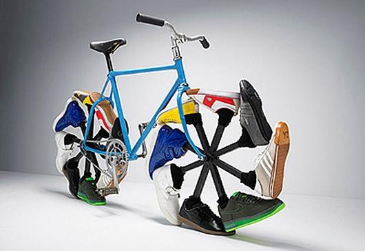 walking-bike-max-knight: Bicycles Design, Walks Bike, Bike Design, Knights, Crazy Shoes, Wheels, Keep Running, Sneakers, Tennis Shoes