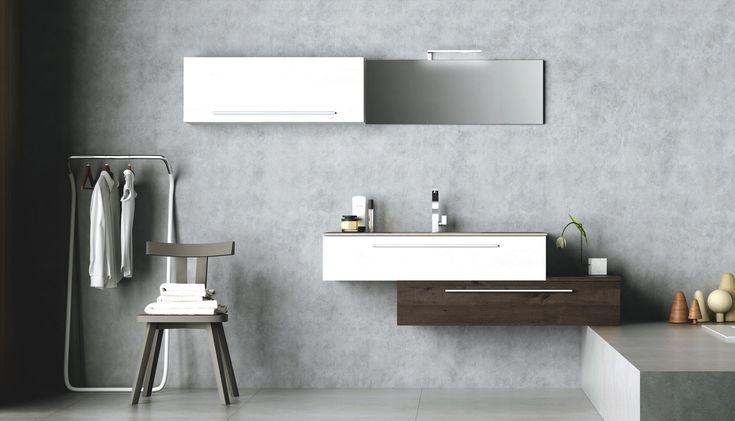 #modularfurnishing #madeinitaly #modern #design #bathroom #arredobagno