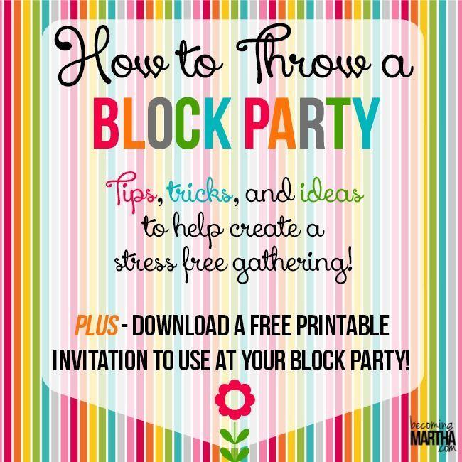 Best 25+ Block party invites ideas on Pinterest