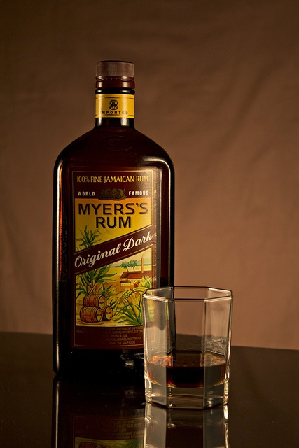 Myers Rum Bottle and Glass by VBeaudry, via Flickr