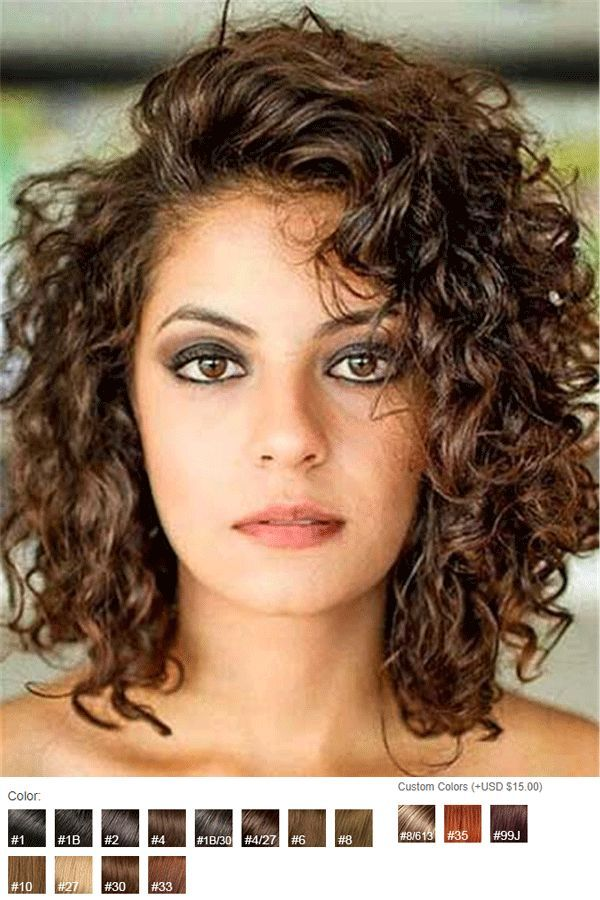 Side Swept Bangs Curly Mid Length Human Hair Lace Front Wigs 12 Inches Curly Hair Photos Curly Hair Styles Front Lace Wigs Human Hair