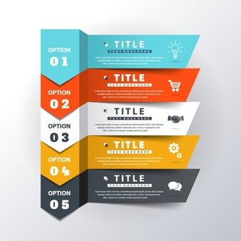 Five nice options for infographics