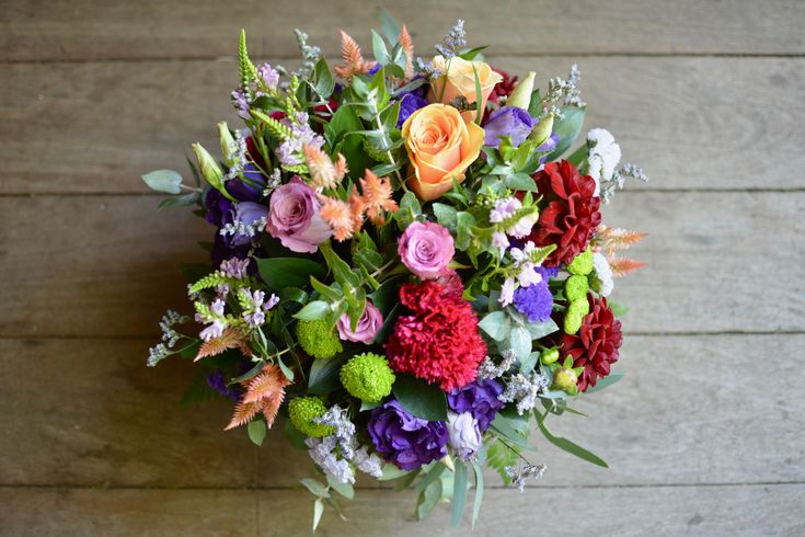 colourful flowers perfect for a birthday, pick-me-up, get well flowers or to add something cheerful to someones day
