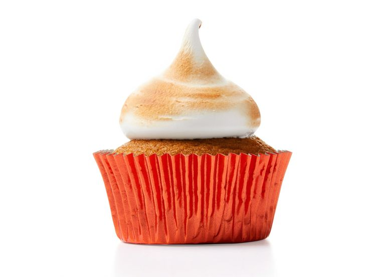 Pumpkin Cupcakes with Burnt Marshmallow Frosting recipe from Food Network Kitchen via Food Network