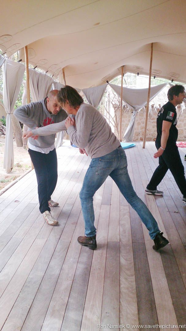 Training Taikiken haraite during the TheFeel Natural Tuning retreats at Ibiza. Location Casa Gazebo, Cap Martinet, Ibiza, Spain.