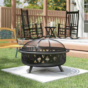 Canora Grey Quillen Steel Wood Burning Outdoor Fireplace ... on Quillen Steel Wood Burning Outdoor Fireplace id=81328