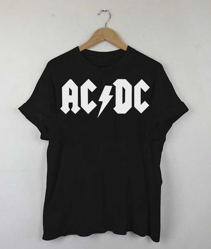 ACDC Black T-shirt, acdc 2015, acdc Quotes, acdc Music, acdc Art, acdc band, acdc logo, Men and Women Shirt by RizalDesign on Etsy