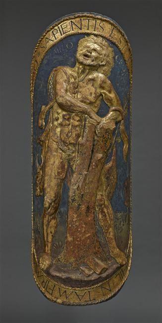 Antonio del Pollaiuolo, Bouclier de parement : Milon de Crotone. Paris, musée du Louvre.