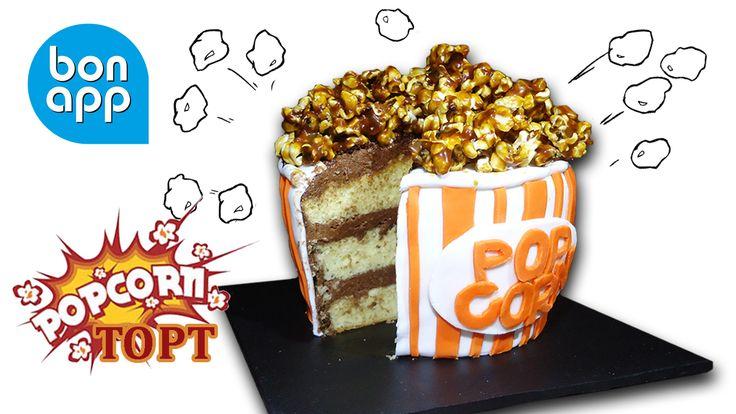 Торт+попкорн.+Это+оригинальный+и+притягательный+торт+с+мастикой+и+попкорном.+Прекрасное+украшение+стола.