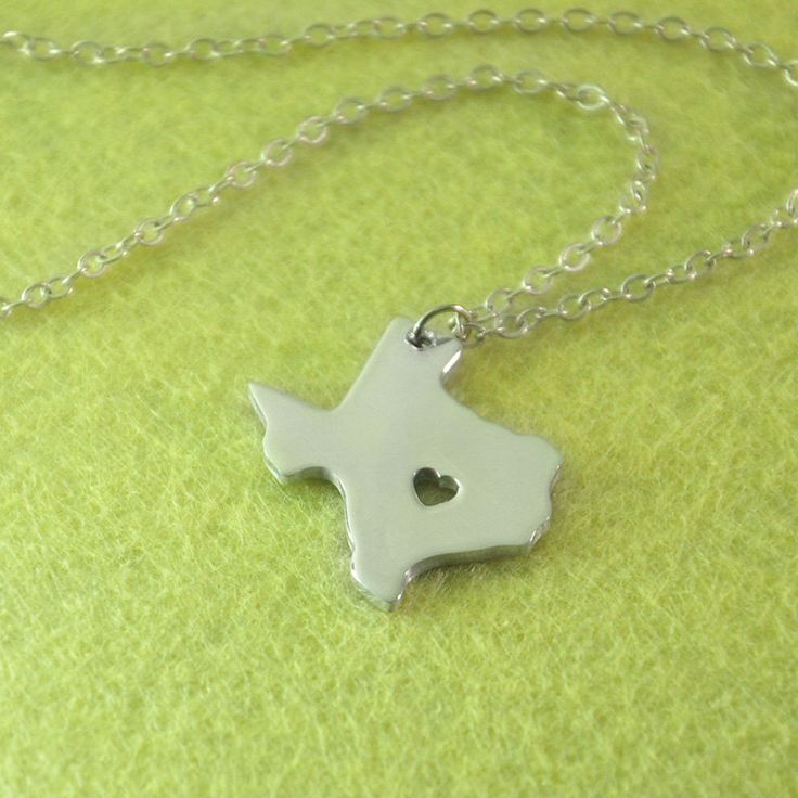 I heart Texas Necklace Texas Jewelry , Custom State Necklace , Texas State Necklace Gift for Texan , Personalized gift for her by ZXBjewelry on Etsy https://www.etsy.com/listing/207363247/i-heart-texas-necklace-texas-jewelry