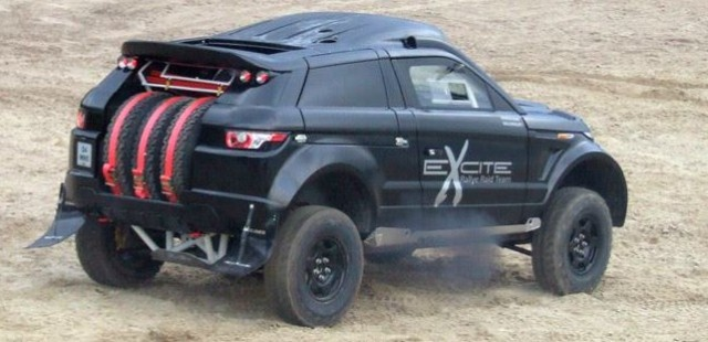 The RaBe Desert Warrior, Britain's #Dakar Rally Hope #RangeRover #Evoque