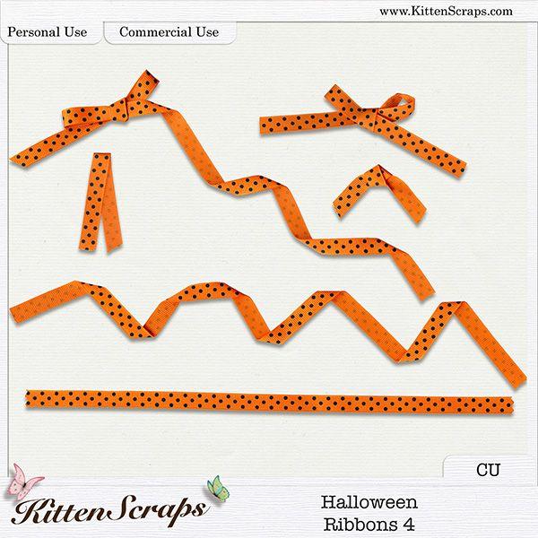 Halloween Ribbons 4 {CU} Digital Scrapbooking Product