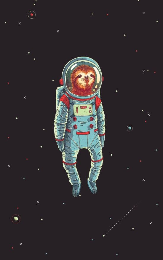 This sloth is so cute!! I love this art print