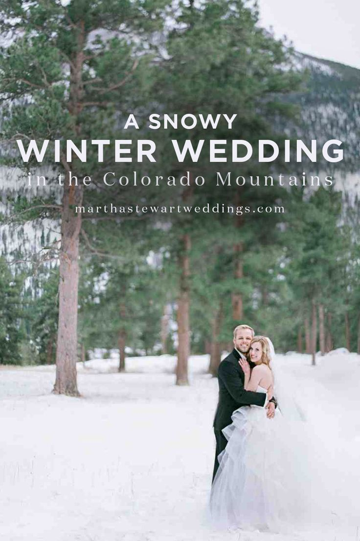 A Snowy Winter Wedding in the Colorado Mountains | Martha Stewart Weddings - Grant received the best birthday present ever when he met Kendall through mutual friends at a Mexican restaurant in Boulder, Colorado, while celebrating his 22nd. They soon shared their first date at Flagstaff Mountain, a foothill of the Southern Rocky Mountains. Continuing with the theme of Mexican cuisine, they enjoyed burritos at the same spot two years later, and Grant popped the question.