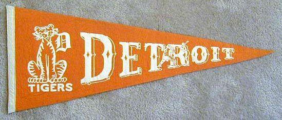 Detroit Tigers pennant from the 1940's.