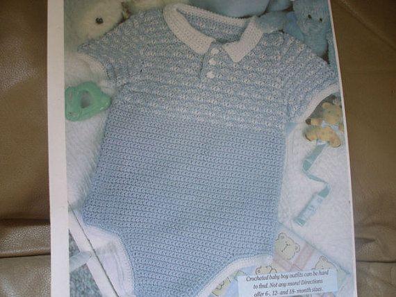 Facile rapide Crochet Pattern bébé Bébé garçon Frédéric sz 6,12 et 18 mois